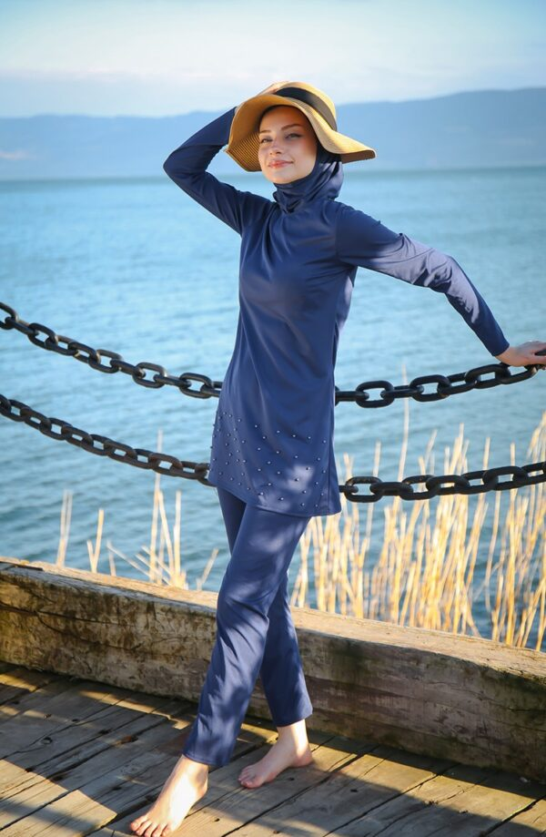 burkini azul marino
