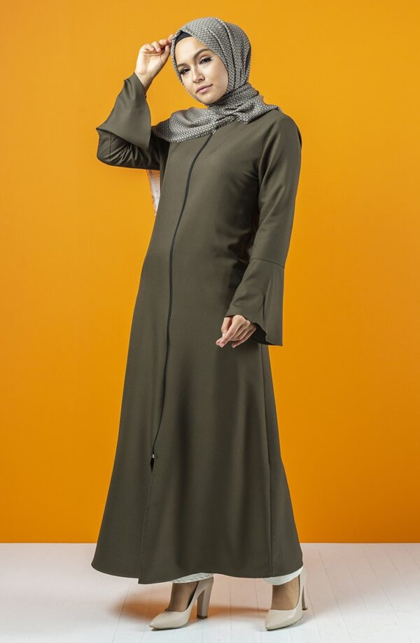 Abaya caqui con manga española