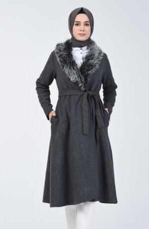 Abrigo árabe gris