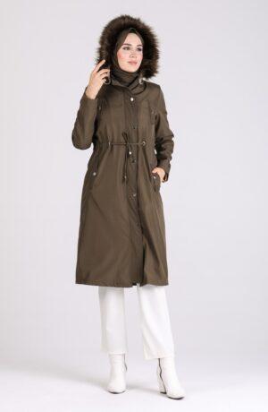 abrigo moda arabe caqui