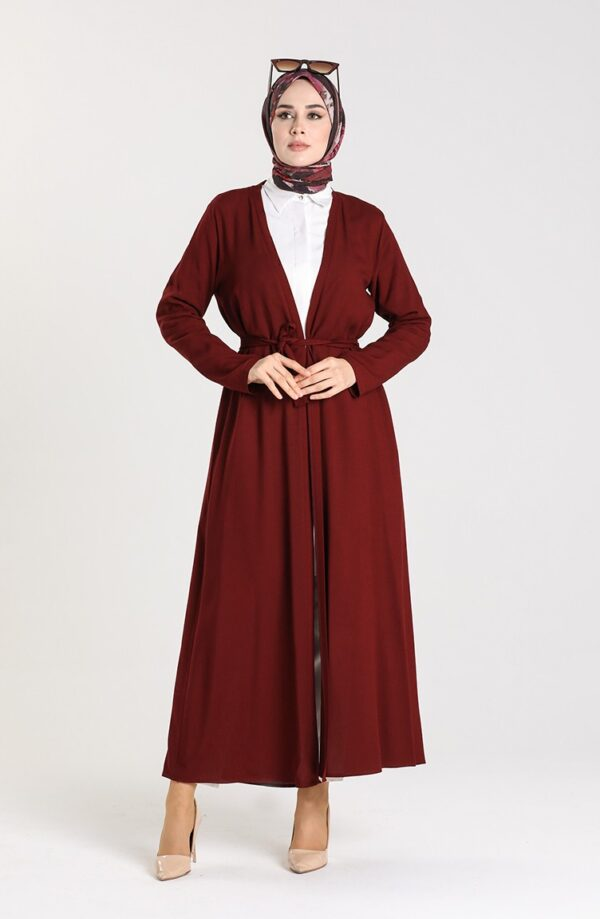 abaya musulmana rojo claret