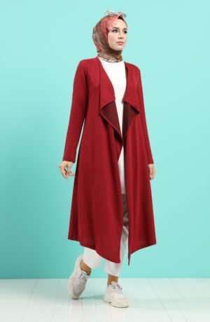 cardigan arabe rojo