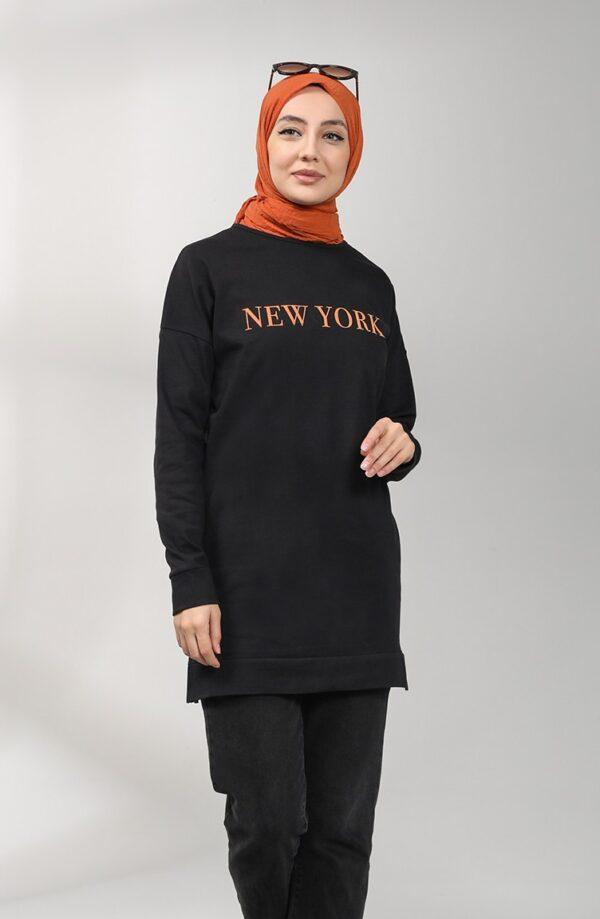 sudadera modesta newyork naranja