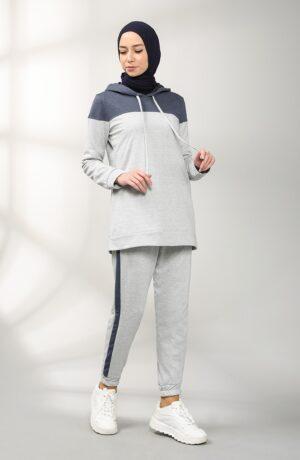 sudadera musulmana gris
