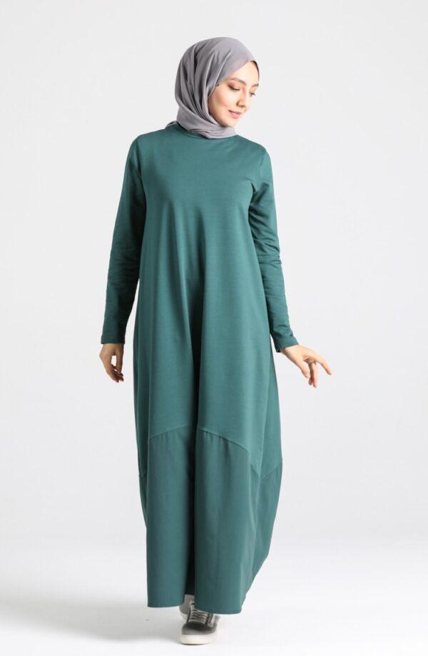 vestido arabe esmeralda