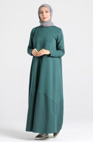vestido árabe esmeralda