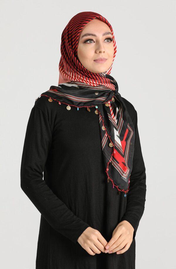 hijab arabe rojo