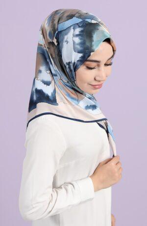 hijab estampados azules