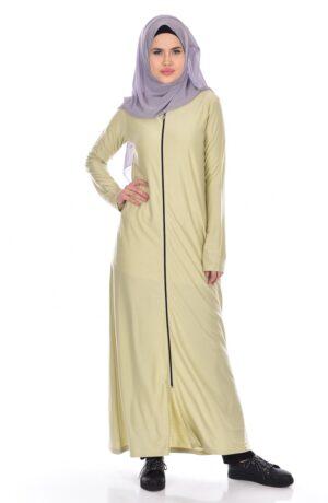 abaya cremallera arabe